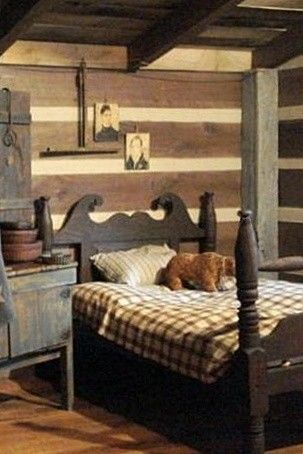 Like Everything About This Room But Would Rather Have An Old Iron Bed Primitive Bedroomprimitive Countryprimitive Decorrustic