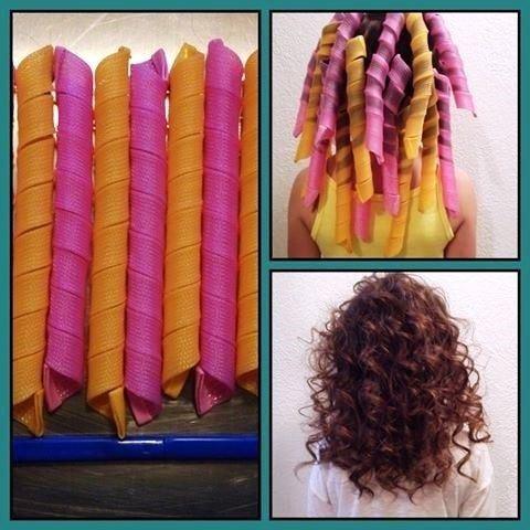 You get a pack of 10 curlers and a hook, with a link to our tutorial video that walks you through  how to put them in (also viewable on our facebook page).  Extra long spiral curlers, work great on long or short hair. Get those perfect  spiral curls with NO heat. They are super easy to use, do your entire head of  hair in 5 minutes. How do they work? While your hair is wet you take a 1 inch section of hair,  slide the curler onto the hook through the slit; the hair is then pulled  inside…