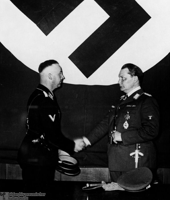 """Hermann Göring, Chief of the State Secret Police Office, names Heinrich Himmler Deputy Chief and """"Inspector of the Prussian Political Police"""" (April 20, 1934)."""