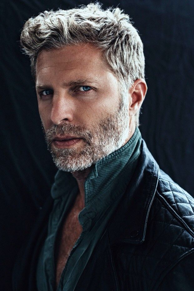— silverfoxmen: Jason Sullivan, model - if I can't avoid going grey / silver as I get older, than I want his hair and beard. His looks super cool in that color.