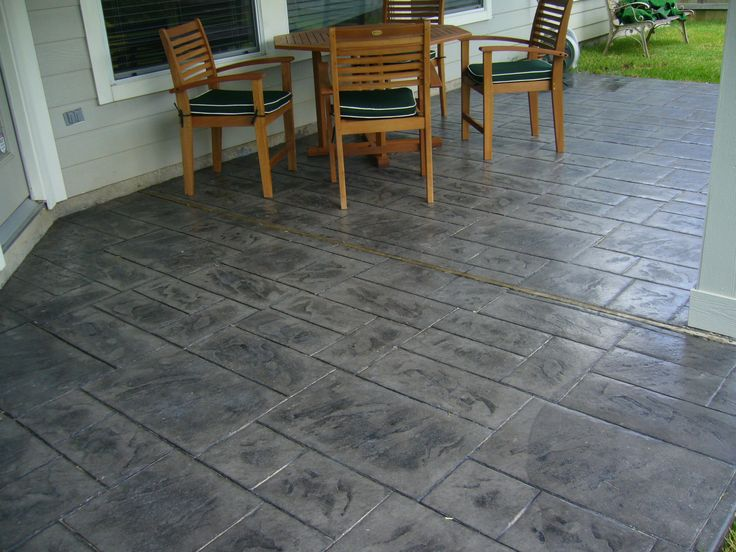 The Best Stamped Concrete Patios Ideas On Pinterest Stamped - Stained cement patio