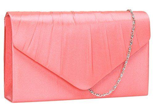 Coral Pink Clutch Bag