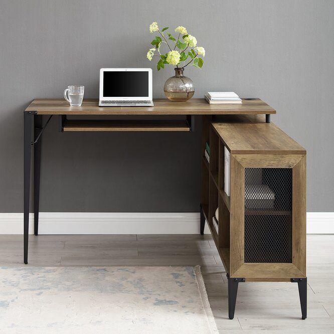 Onamia L Shape Desk In 2020 L Shaped Desk Desk Small L Shaped Desk