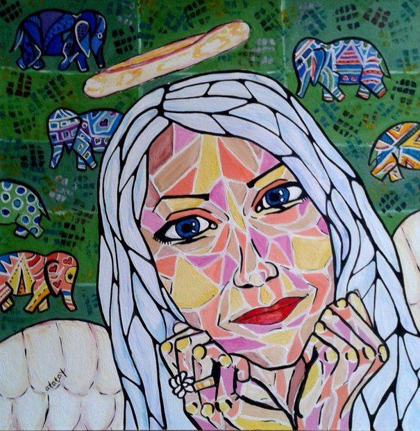 Ручная работа портрет Ангел картина ататай art drawing by atatay