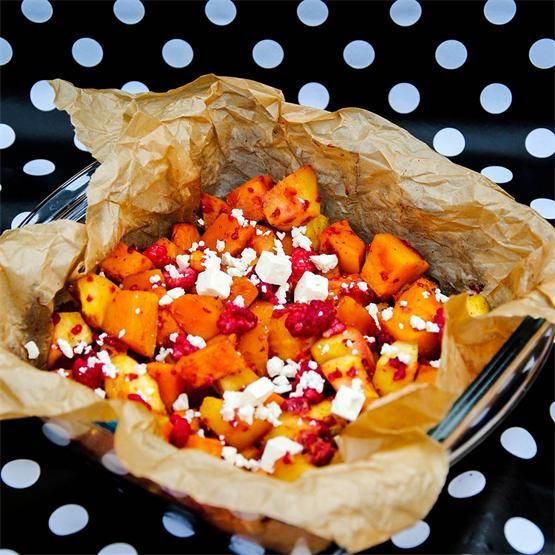 Baked Butternut Squash And Cinnamon Pumpkin with Honey - #KeepOnCooking