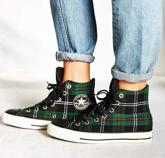 Converse Tartan Chuck Taylors, $65 | 50 Jazzy Pairs Of Sneakers Under $100 --> NEED