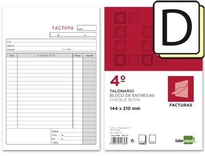 Talonario Facturas Cuarto Liderpapel  http://www.20milproductos.com/papeleria/blocs-y-cuadernos/talonario-facturas-liderpapel-8.html