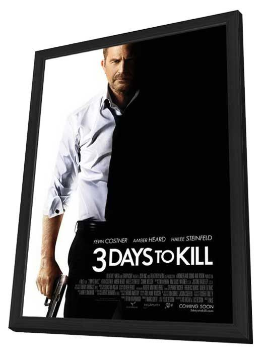 3 Days to Kill 27x40 Framed Movie Poster (2014)