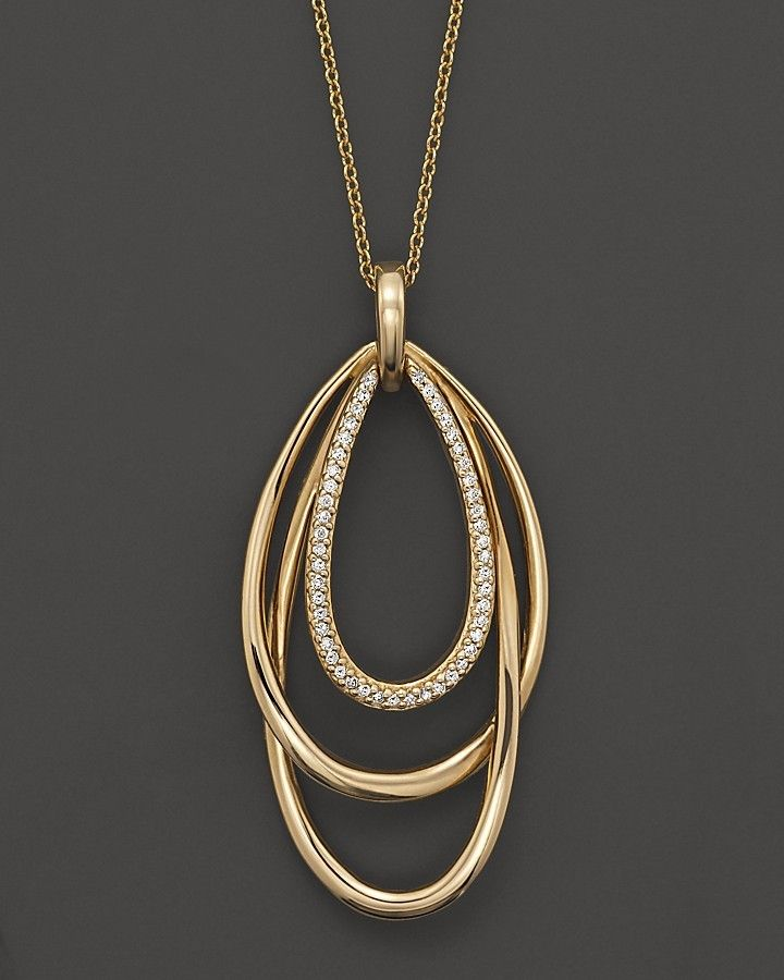 "Bloomingdale's Diamond Pendant Necklace in 14K Yellow Gold, .15 ct. t.w., 16"" on shopstyle.com"