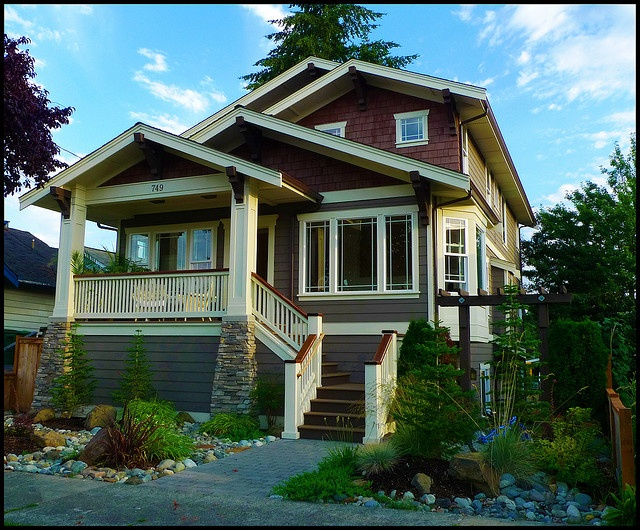749 bungalow craftsman and craftsman style for 3 color exterior paint schemes