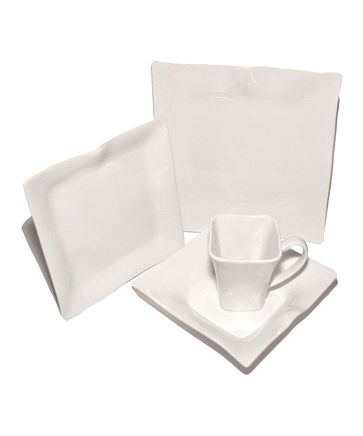 Another great find on #zulily! 16-Piece White Classic Dinnerware Set by Francois et Mimi #zulilyfinds