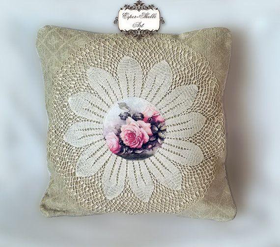 Oreiller chic minable, coussin décoratif, coussin patchwork, patchwork, reproduction imprimée sur toile.Cet oreiller couvre, pas l'oreiller