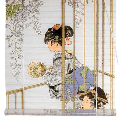 Good Oriental Furniture Geisha Shoji Rice Paper Roller Blind Size W x