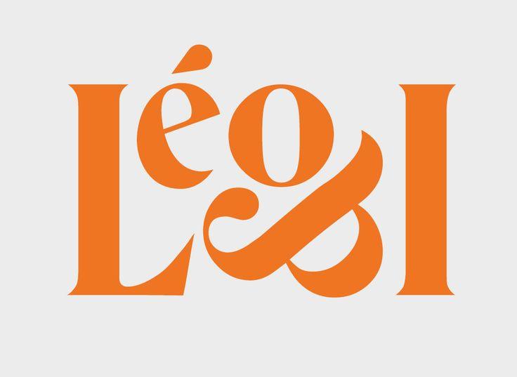 Logo Design Leo & I typography serif orange