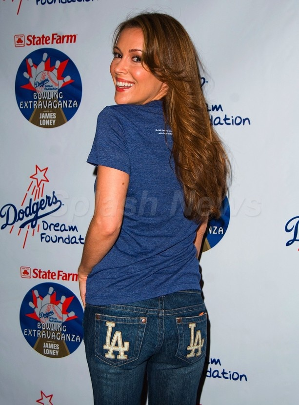Alyssa Milano is one sexy LA Dodgers fan!