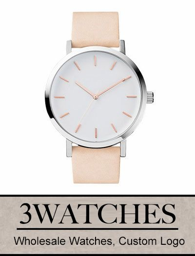 #Thehorse Wholesale Watches. Custom Logo. Polished Steel/White Face with Rose Gold Indexing. Visiting: http://www.3watches.com/horse-watch/