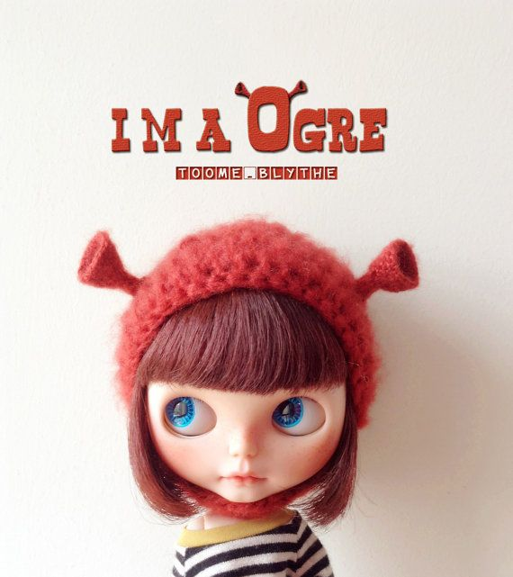 toome's Blythe Helmet hat /I'M A OGRE 2 by TooMeBlythe on Etsy, $40.00