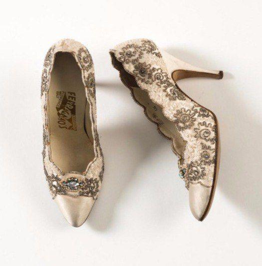 Атласные туфли с вышивкой. Salvatore Ferragamo, Италия, 1950-е гг.