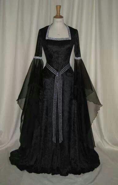 Black Celtic Dress Back In Time Pinterest Vestidos Vestido
