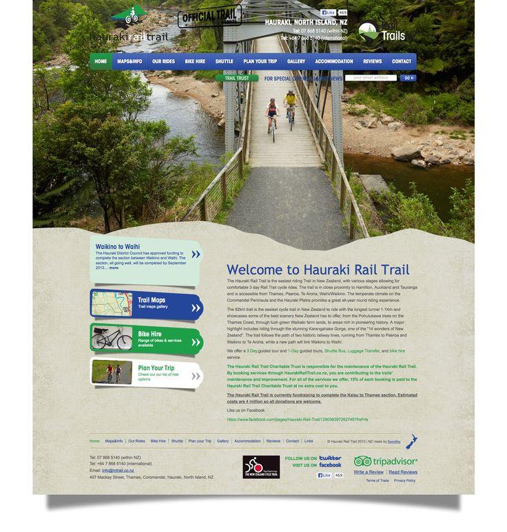Hauraki Rail - North Island, NZ. http://www.haurakirailtrail.co.nz/