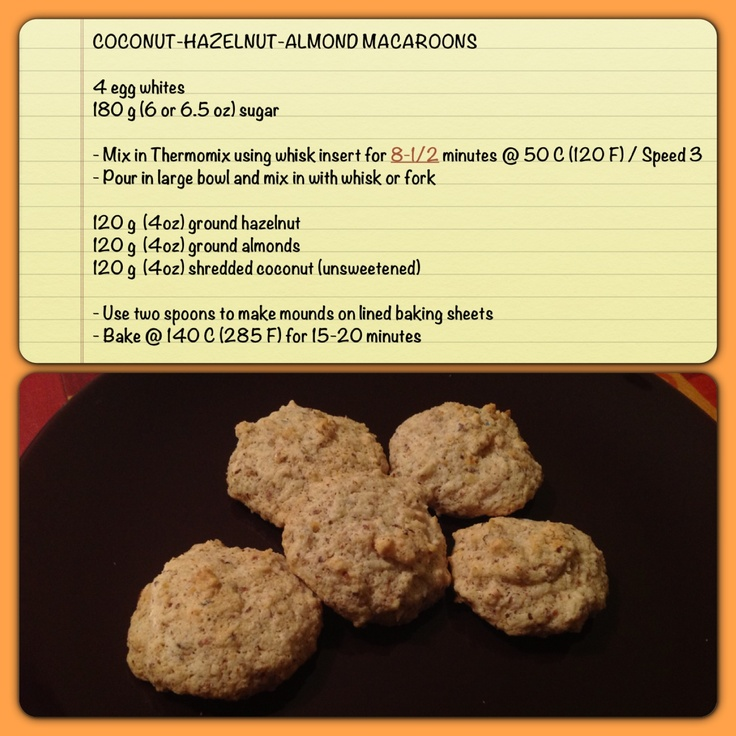 Coconut-Hazelnut-Almond Macaroons - great and easy Christmas cookies (Thermomix)