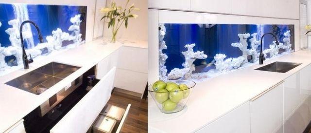 Interessante Ideen für Küchenrückwand mit Fliesen küche - k amp uuml che im landhausstil