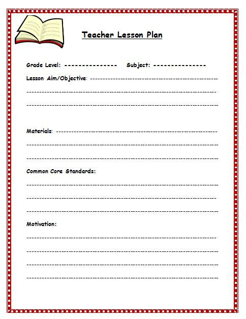 Free Lesson Plan Template | Lesson Plan Template For Teachers |  Readyteacher.com