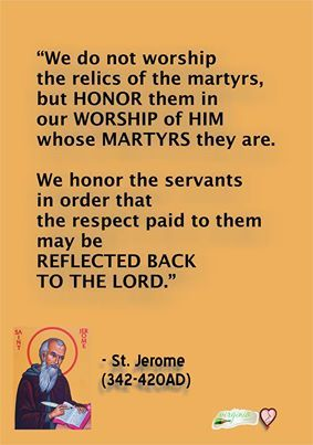 Saint Jerome on saint and relic veneration