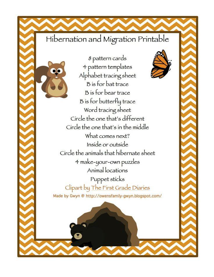 preschool printables hibernation winter pinterest preschool printables printables and. Black Bedroom Furniture Sets. Home Design Ideas