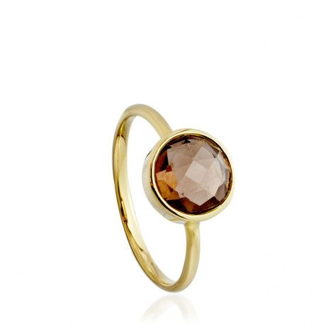 Astley Clarke Smoky Quartz Ring in Gold (yellow)