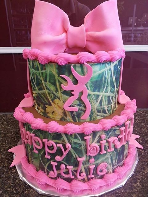 Camo Birthday Cake for Julie
