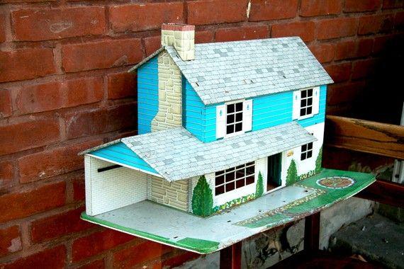 Blue Marx Dollhouse by TheNerdNest on Etsy, $85.00