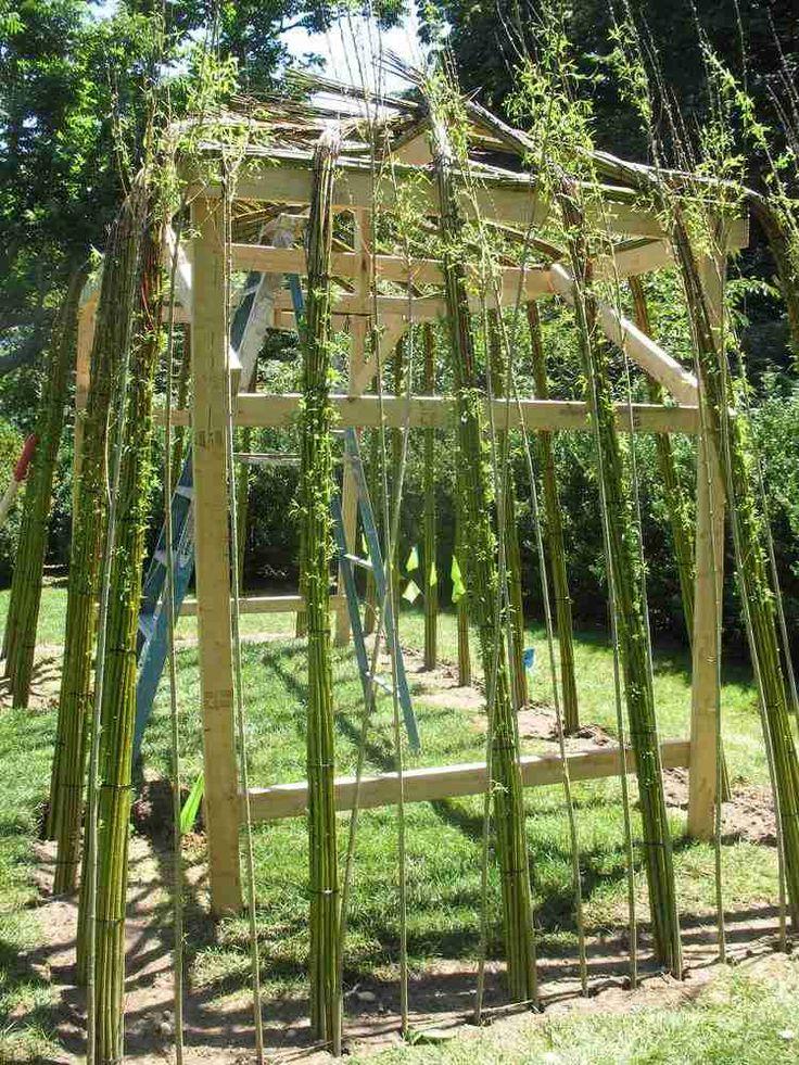 Structure végétale en saule tressé – 20 idées de déco de jardin vivante : Structure Végétale Saule Tressé Comment Construire Cabane Osier Vivant