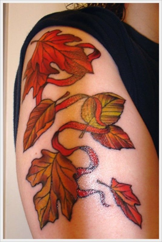 oak leaf tattoo designs | 535px
