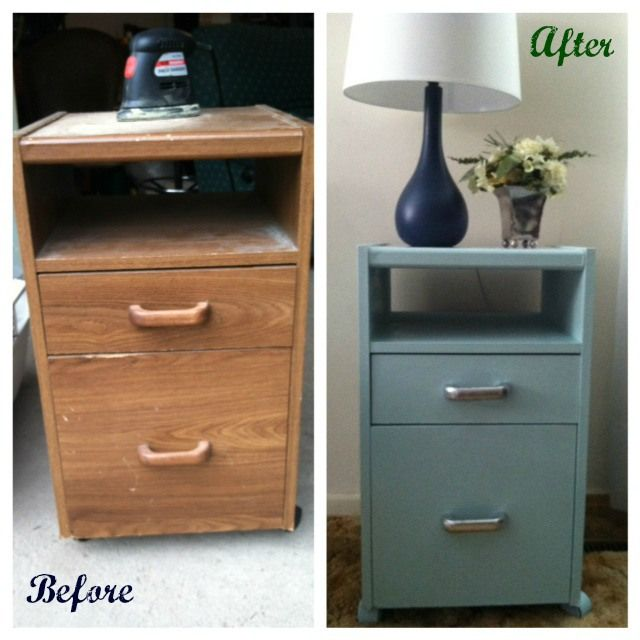 Particle Board Two Drawer Cabinet Makeover Home Decor Ideas Diy Furniture Homemade