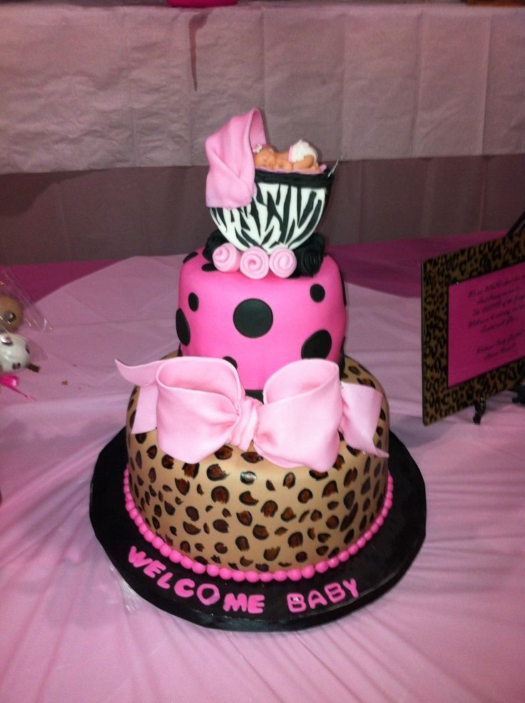 pink and leopard baby shower