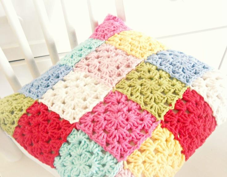 hopscotch lane: patchwork pillow