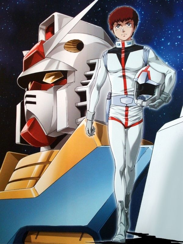 Amuro Ray (アムロ・レイ Amuro Rei) sometimes referred to as The White Devil by ZEON is a 16 year old Newtype from the Earth Federation (American Side 7). Amuro currently serves aboard White Base for the Earth Federation and is the pilot of there prototype mobile suit the RX-78-2 Gundam.