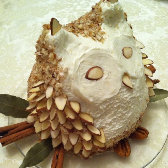 Owl cheese ball by Shelia