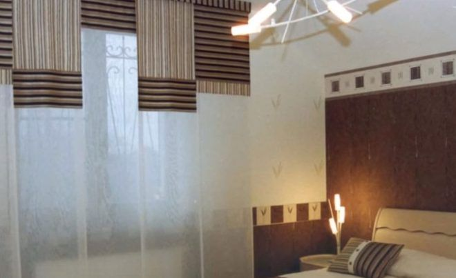 Японские шторы в спальню фото