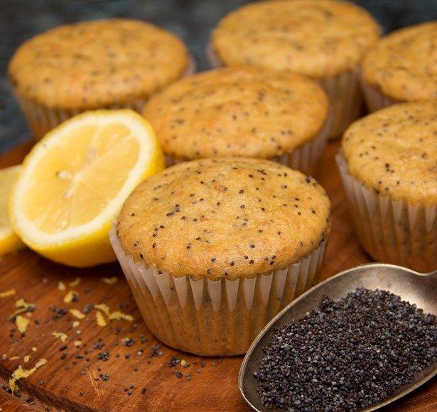 Muffin sans gluten graine de pavot et citron