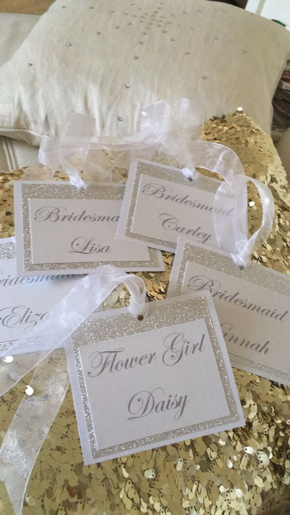 Labels for bridal party coat hangers