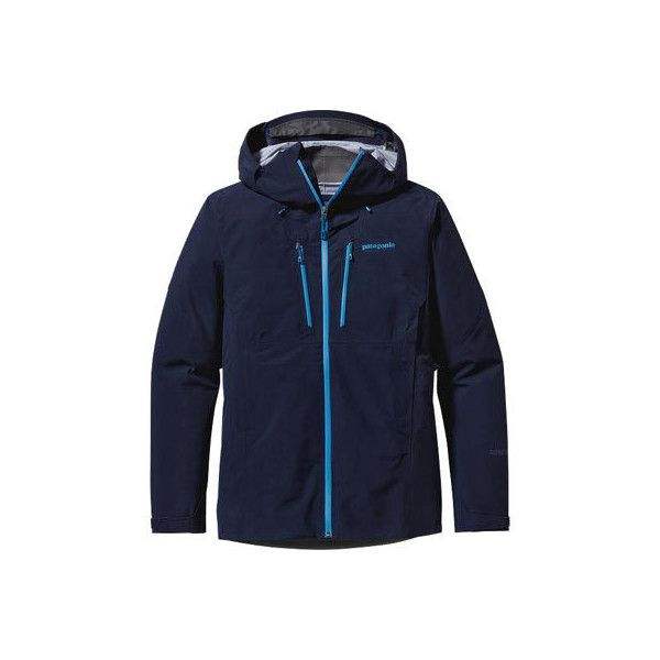 Men's Patagonia Triolet Jacket - Navy Blue Rain Jackets ($399) ❤ liked on Polyvore featuring men's fashion, men's clothing, men's outerwear, men's jackets, blue, mens waterproof jacket, patagonia mens jacket, men rain jackets, mens jackets and waterproof rain jacket