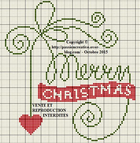 Grille gratuite point de croix : Merry Christmas Coeur ...