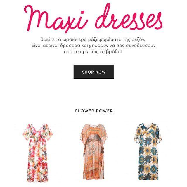 The modern maxi dresses go from day-to-night, brunch to the beach and late at night to the bar! 🔸Το maxi φόρεμα είναι το ιδανικό κομμάτι για τις βόλτες στην πόλη ή στο νησί, για κάθε περίσταση και στυλ! Βρείτε τη συλλογή στο eShop της #matfashion • #springsummer2016 #maxi #dresses #collection #summer #style #ootd #plussizeblogger #plussizefashion #instafashion #streetstyle #fashionista