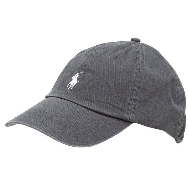 Ralph Lauren Classic Baseball Cap in Grey. Classic, timeless baseball design. White Ralph Lauren polo pony player on front. Leather fastening buckle on rear of…