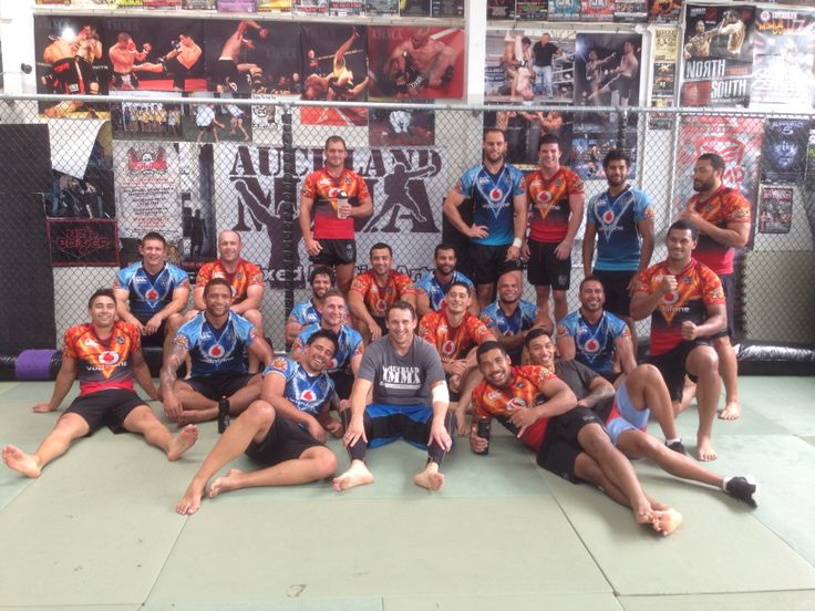 The Warriors finishing off pre season wrestling and grappling at Auckland MMA #nzwarriors