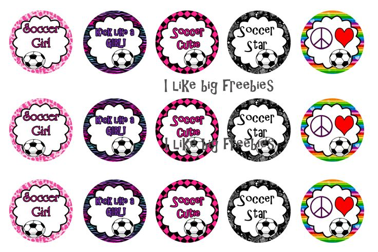 Soccer bottlecap images for your hairbows #soccer #bottlecaps #printable #free #hairbowdiy #hairbows