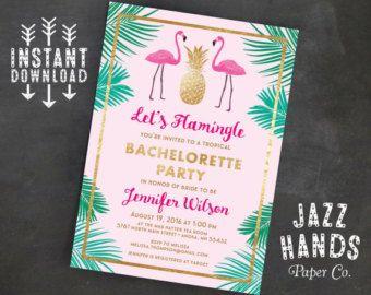 Invitación de despedida de soltera Flamingle por GrayCatGraphics