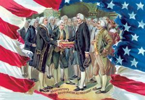 WALLS 360 wall graphics: Washingtons Inauguration as President http://www.walls360.com/americana-wall-graphics-s/1964.htm